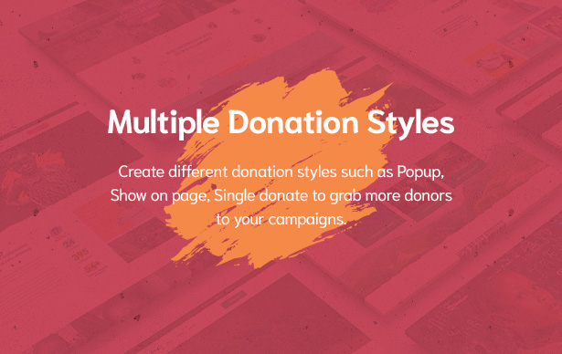 Multiple Donation Styles in Givelove Non Profit Charity & Crowdfunding WordPress Theme