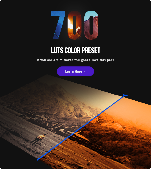 700 Film Looks - LUT Color Preset Pack - 2