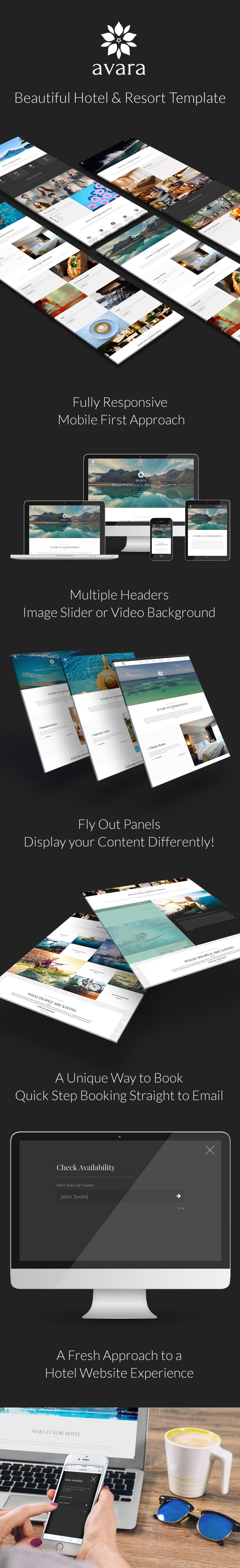 Avara - Hotel and Resort HTML5 Template by ThemeCub | ThemeForest