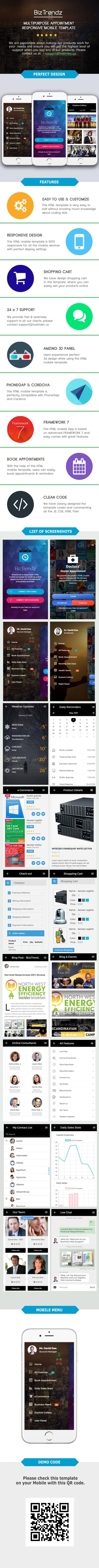 BizTrendz - Multipurpose HTML Mobile Template - 1