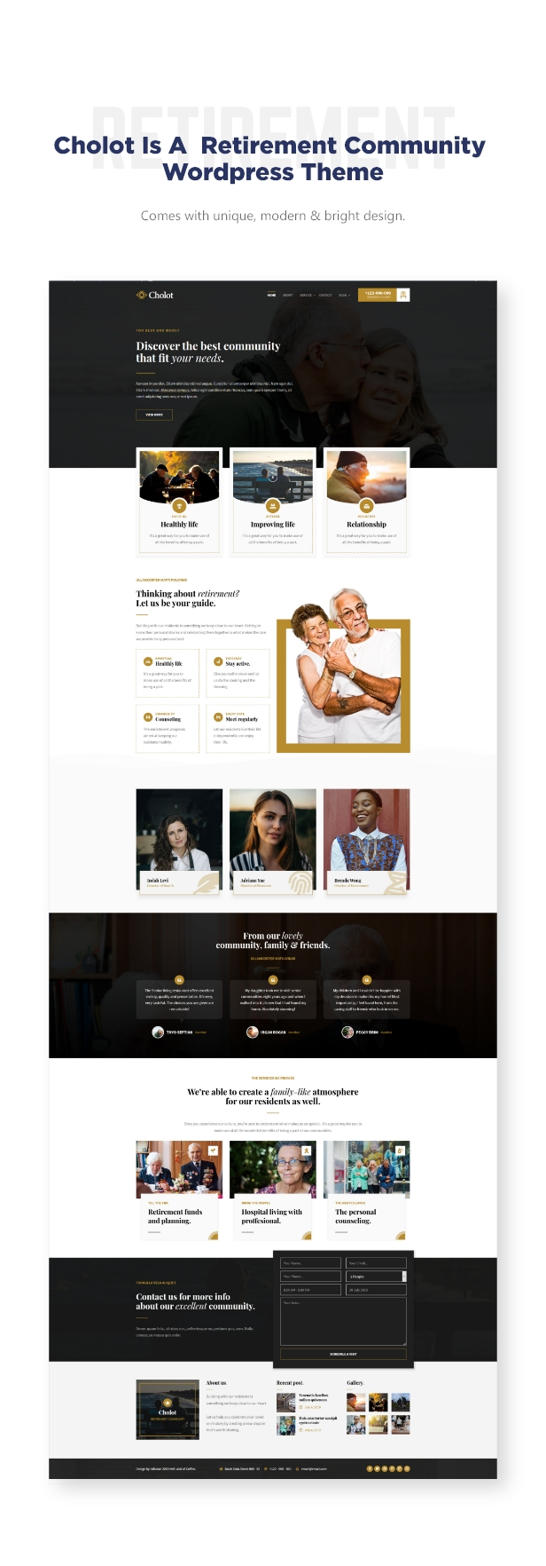 Cholot - Retirement Community WordPress Theme - 1