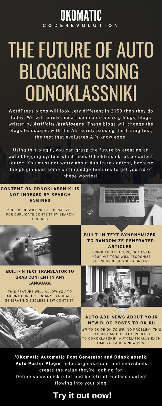 OKomatic Automatic Post Generator and Odnoklassniki Auto Poster Plugin for WordPress