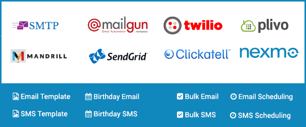 Smart sms email manager ssem for Mailgun templates