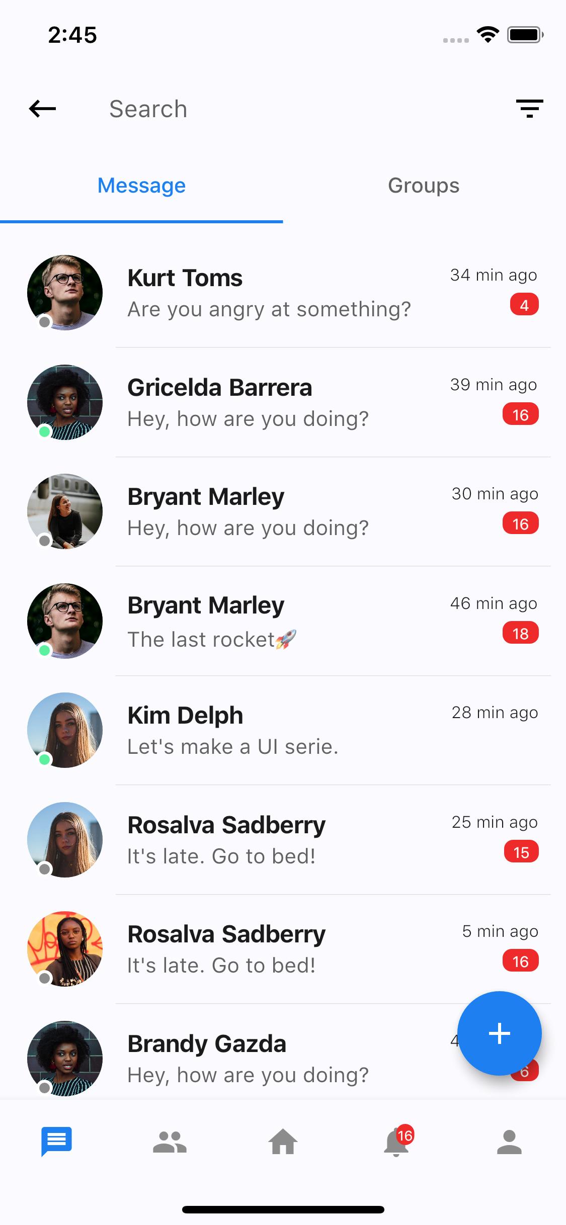 Social Media App UI Kit - Flutter - 3