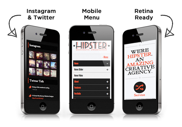 Hipster: Retro Responsive HTML5 Template - 2