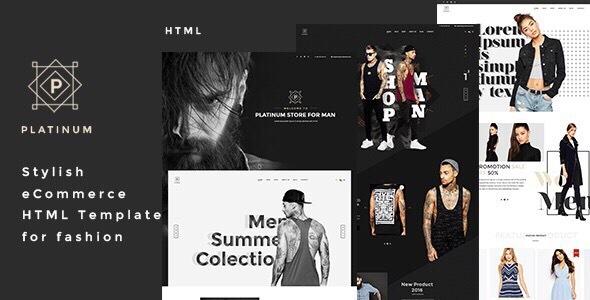 Platinum - Stylish eCommerce HTML Template for Fashion