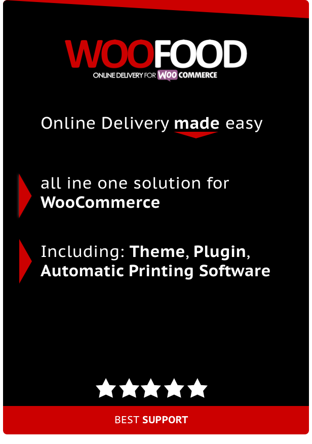 WooFood - Online Delivery for WooCommerce & Automatic Order Printing - 1