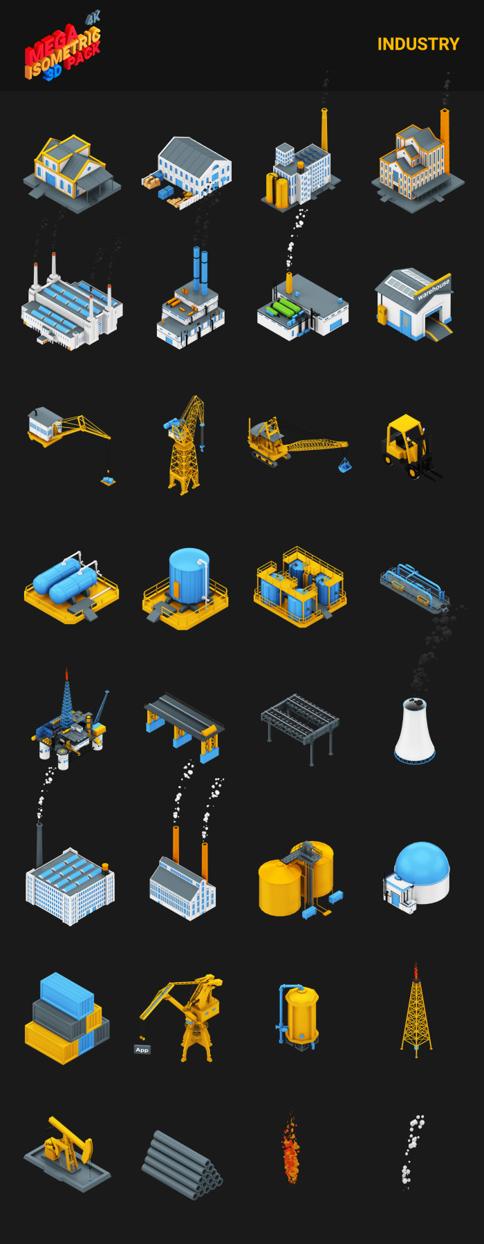 Isometric Mega Pack - 16