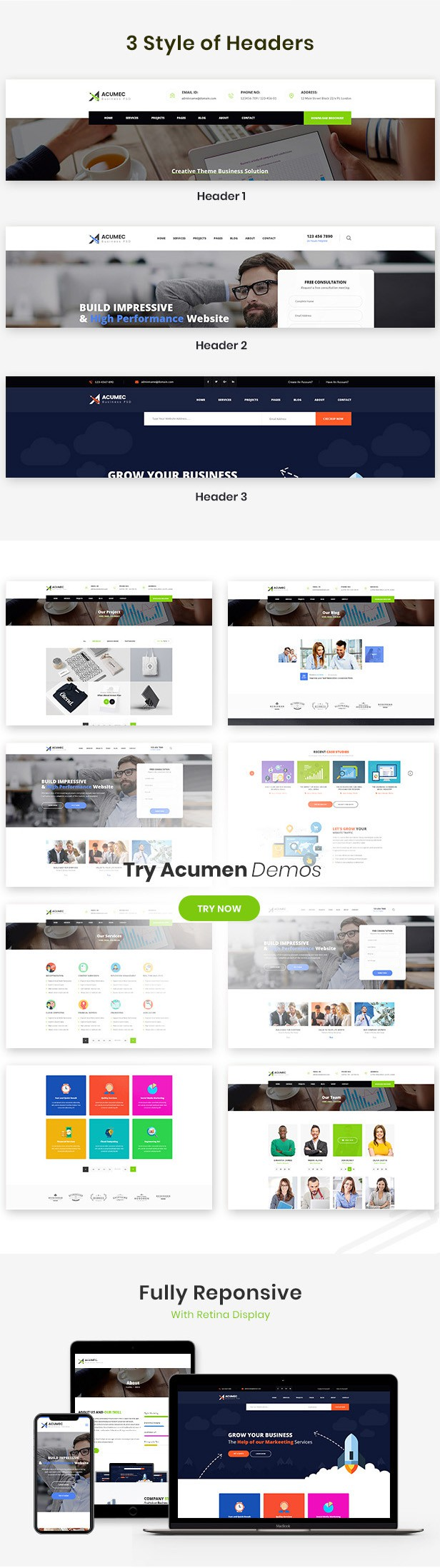 Acumec - Business Multipurpose WordPress Theme - 11
