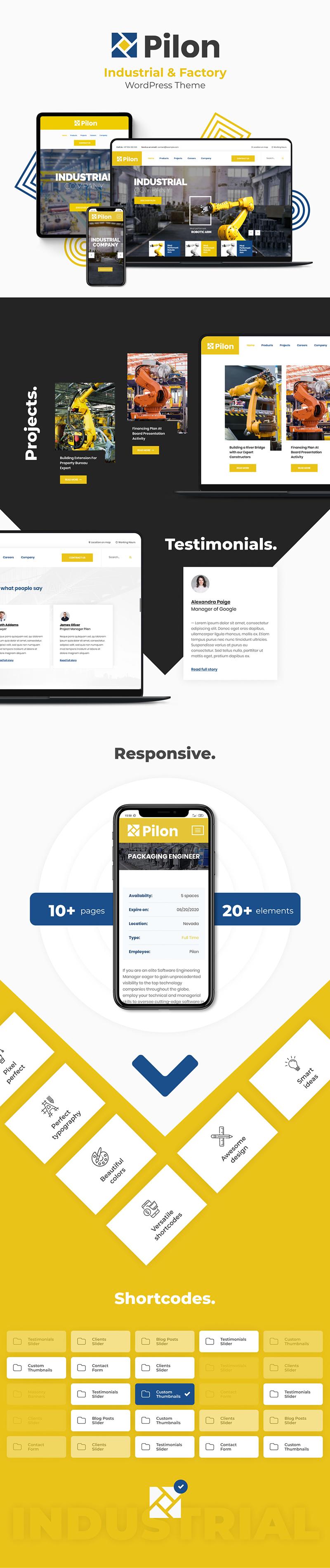 Pilon - Industrial & Factory WordPress Theme - 3