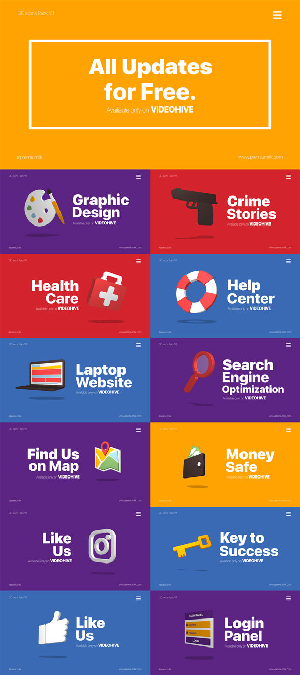 3D Animated Icons Library - 13