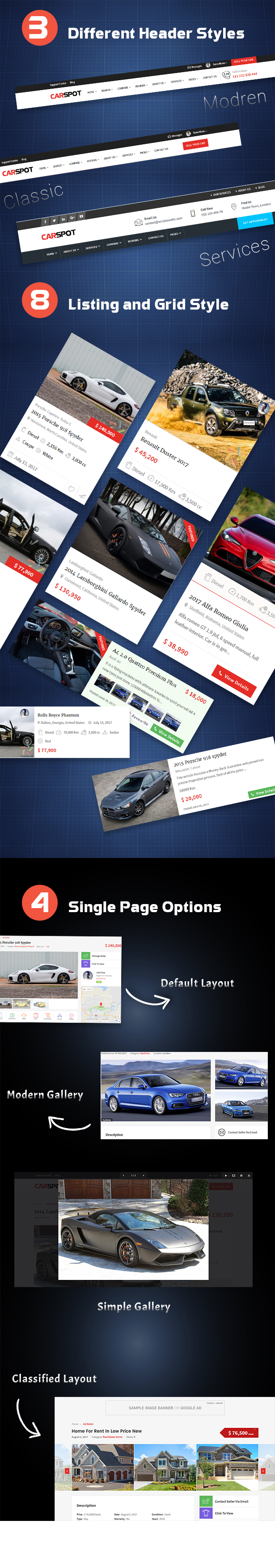 CarSpot - Car Services & Automotive, Dealership, Classifieds WordPress Theme
