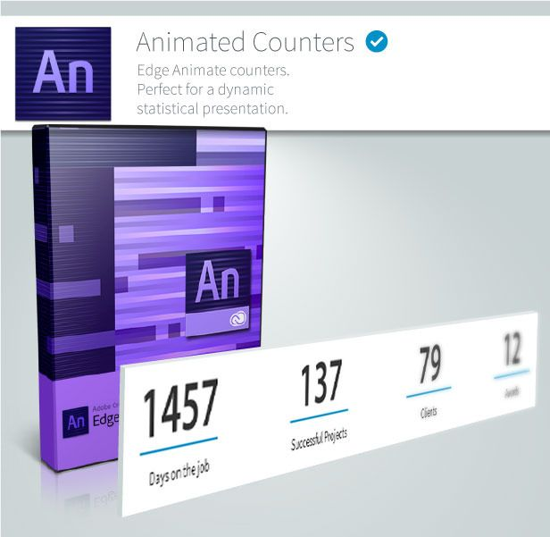 Animated Counters - Edge Animate Collection - 1