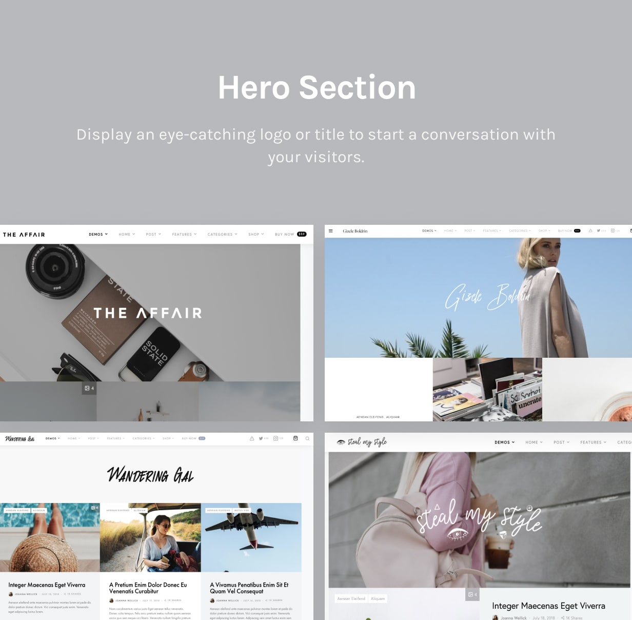 The Affair - Creative Theme for Personal Blogs and Magazines - 4