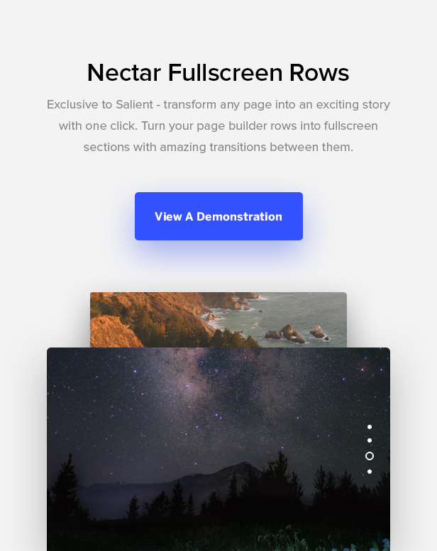 fullscreen rows