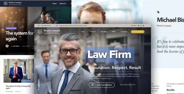 Law firm and Legal Attorney WordPress Theme