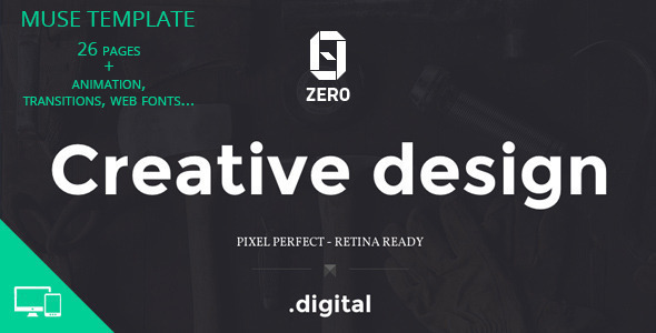 ZER0 - Creative Agency Muse Template