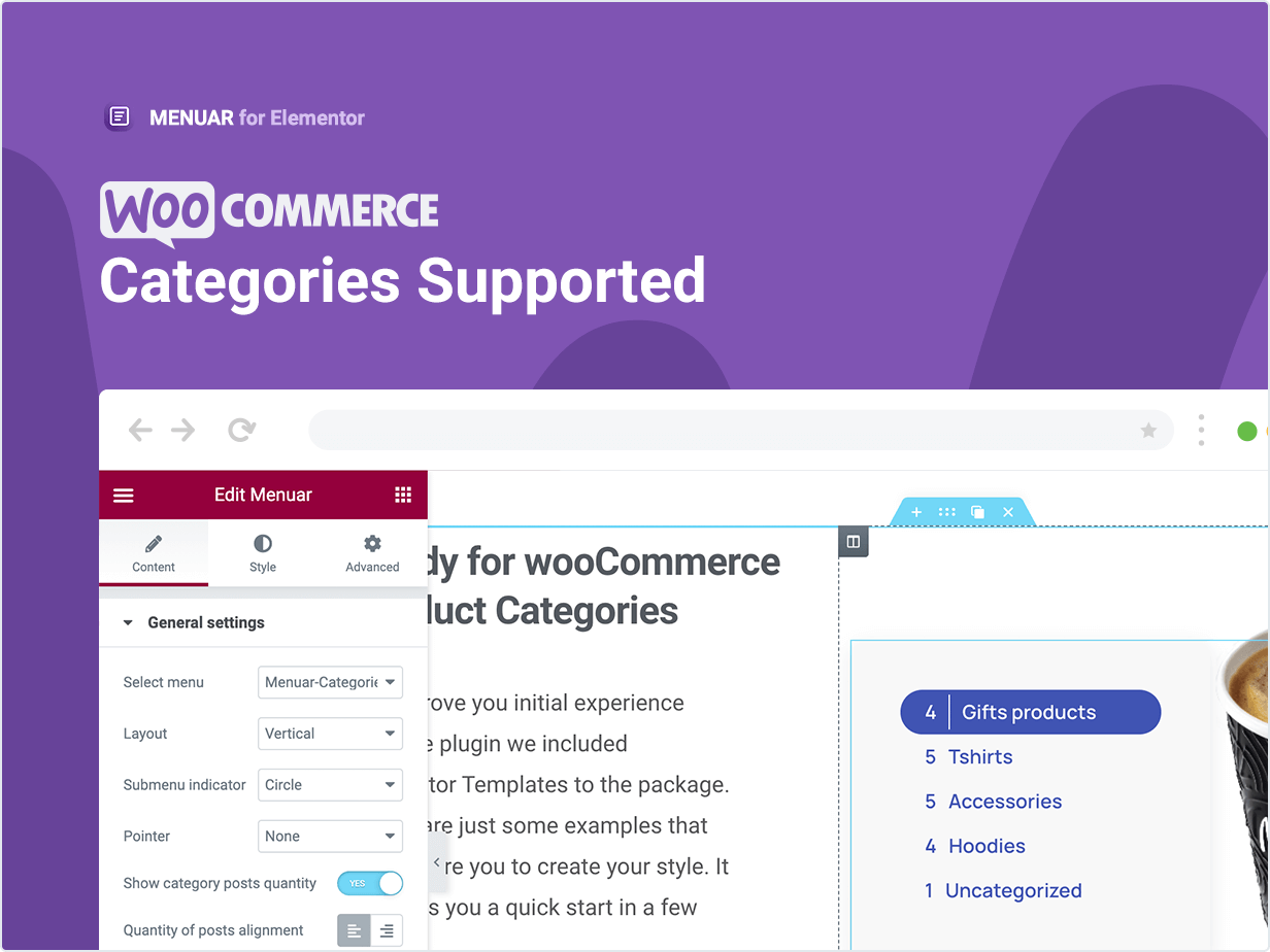 Woocommerce Category Supported