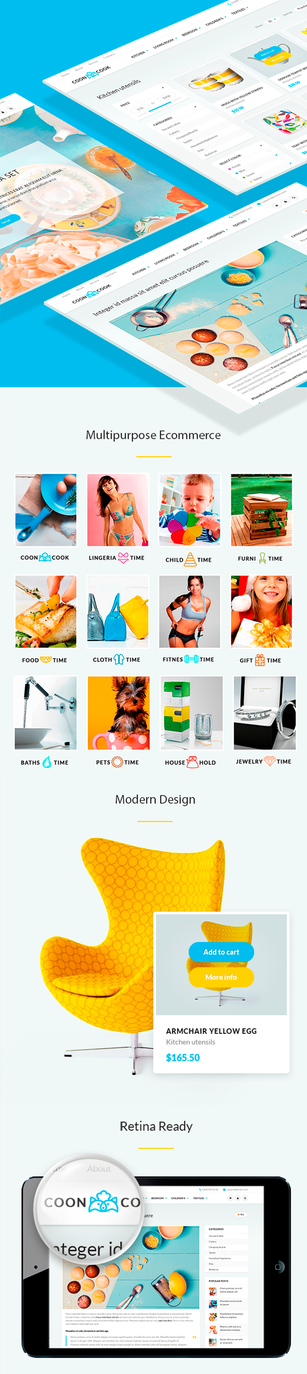 CoonCook - HTML Template for Online Store - 1