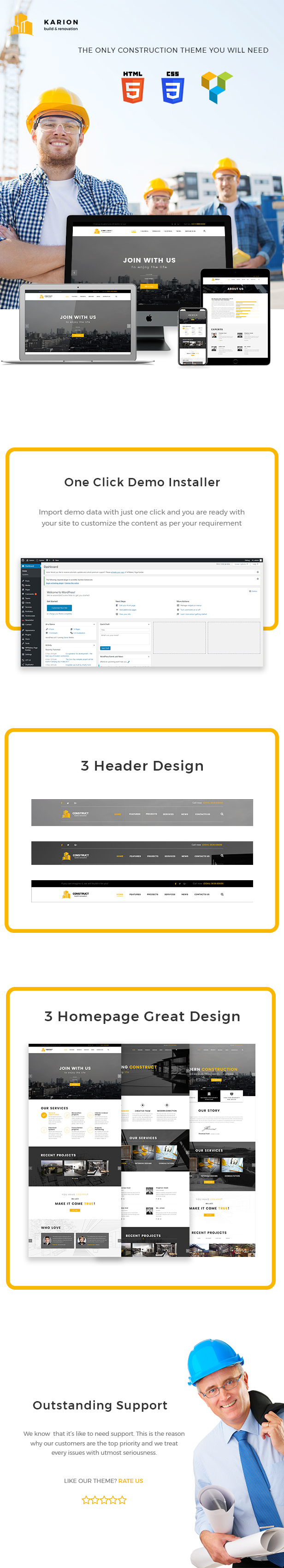 Karion - Construction & Building WordPress Theme - 5