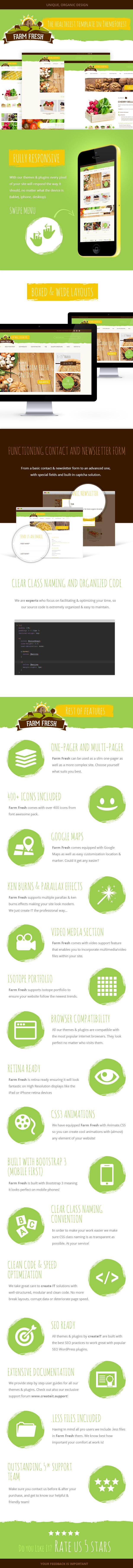 Farm Fresh Features List