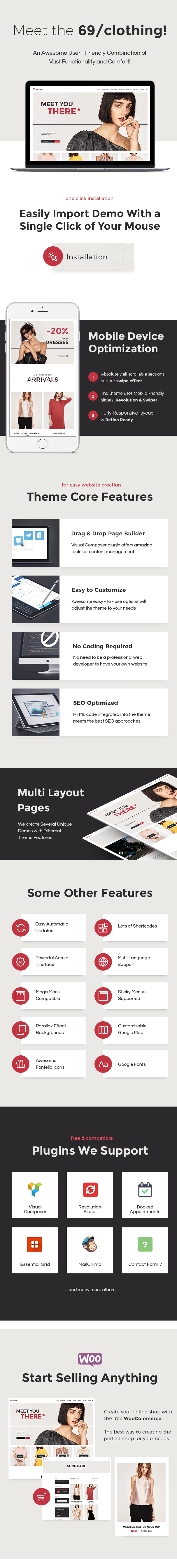 69 Clothing | Brand Store & Fashion Boutique WordPress Theme - 1