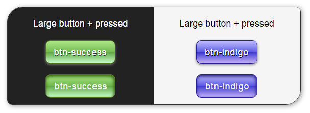 Delicious Bootstrap skin - buttons