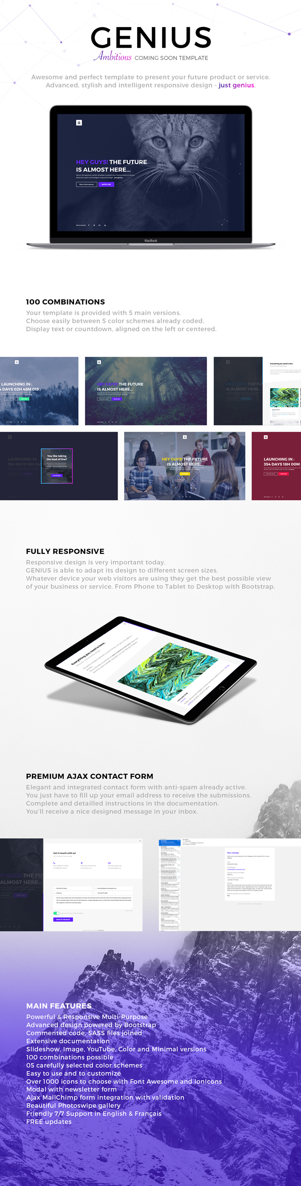 Genius ambitious coming soon template by madeon08 themeforest genius ambitious coming soon template falaconquin