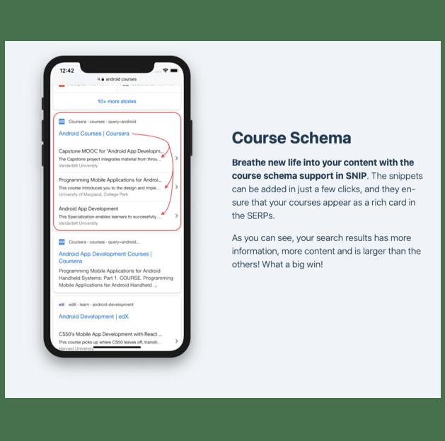 Course Schema example