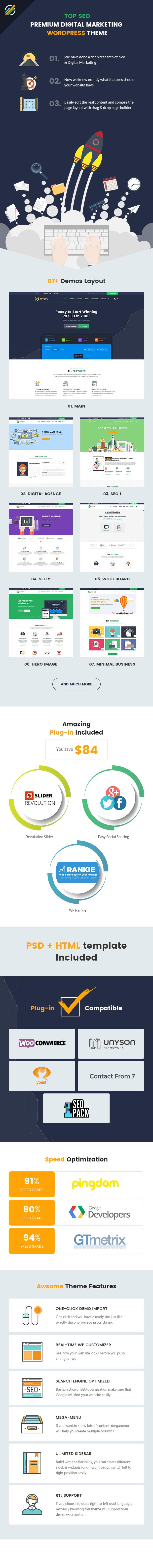 TopSEO - SEO, Digital Marketing WordPress Theme - 1