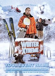 Winter Extreme Flyer Template by Design Cloud