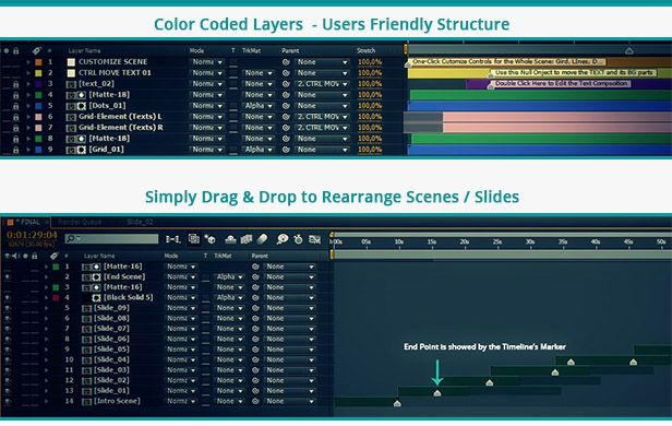After effects Slides builders kits