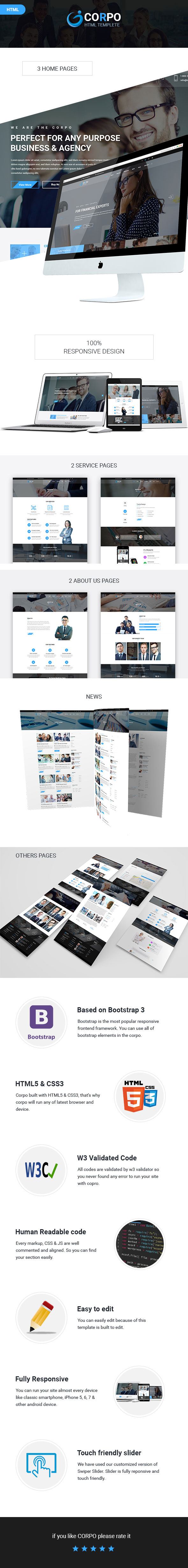 Corpo - The Ultimate Financial / Business Template by decentthemes