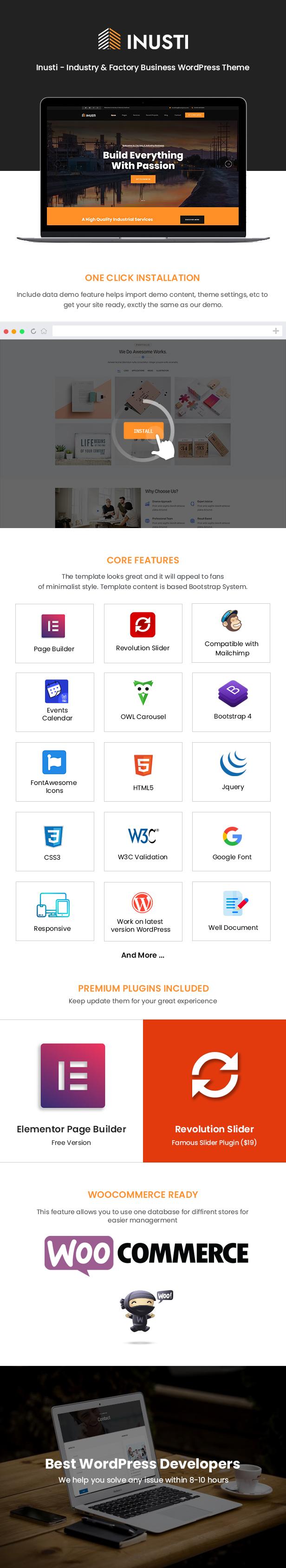 Inusti WordPress Theme