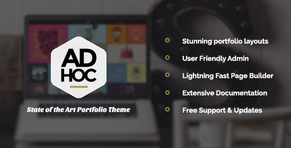 Ad Hoc Portfolio – Agency & Photography Portfolio Theme