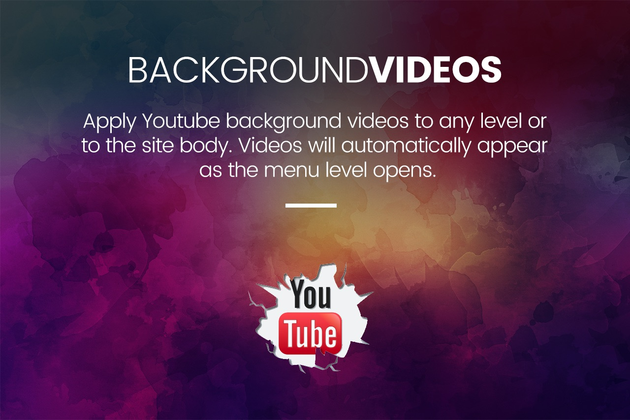Slick Menu - Video Backgrounds