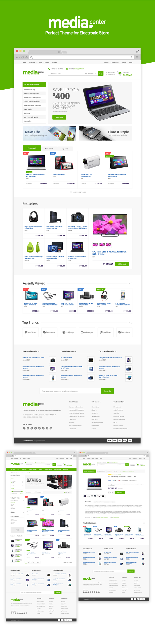 MediaCenter - Electronics Store WooCommerce Theme - 9