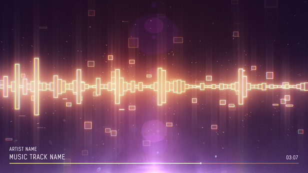 SoundVisible Audio Spectrum Visualizer | Linear Bands Template | Color Preset: Dream