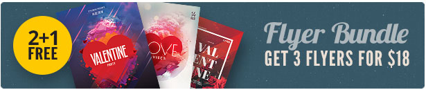 Valentine Flyer Bundle Vol.05