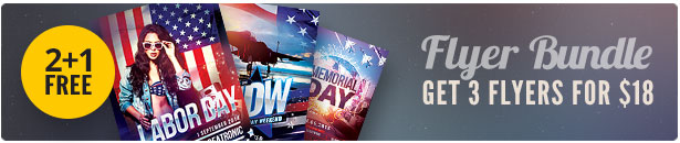 Memorial Day Flyer Bundle