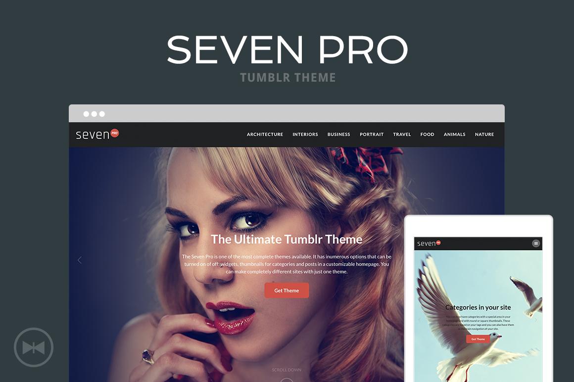 Seven Pro Tumblr Theme - 1