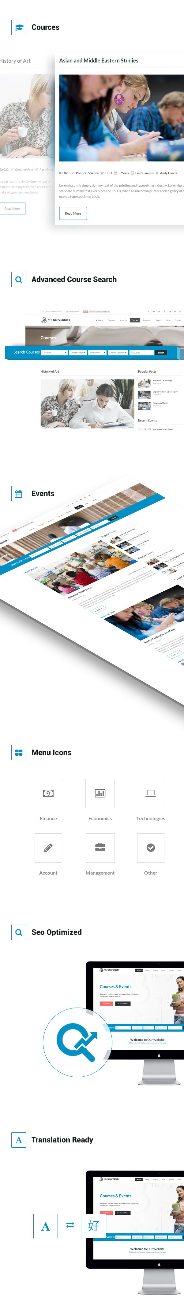 Education WordPress Theme | My University - 3