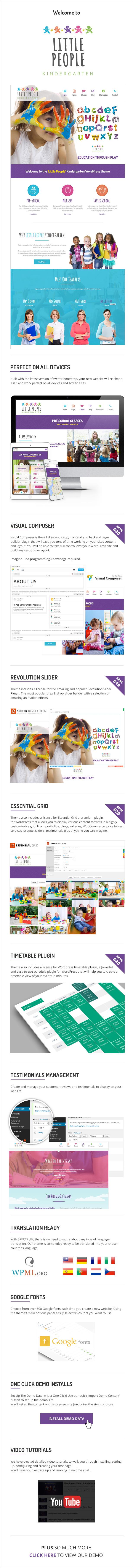 Little People | Kindergarten WordPress Theme for PreScool and infants, nurseries and play school - 3