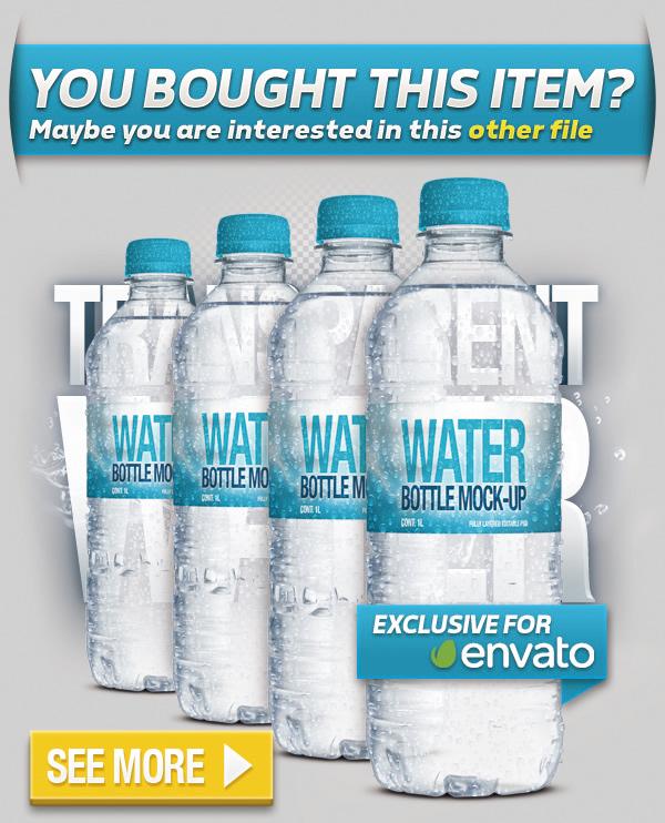 Mini Fresh Water Bottle Mock-Up - 1