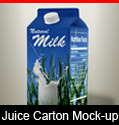 Milk and Juice Tetra-Pack Mockup