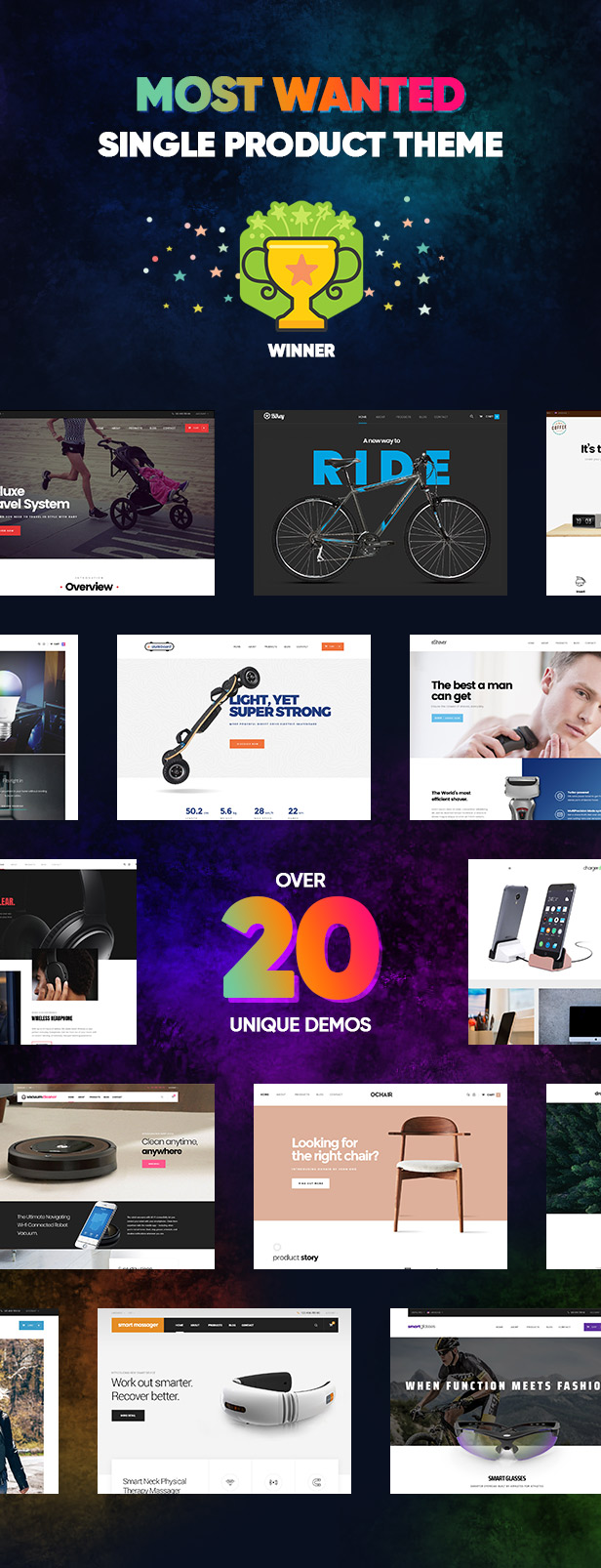 Single product ecommerce wordpress theme Most Wanted contest