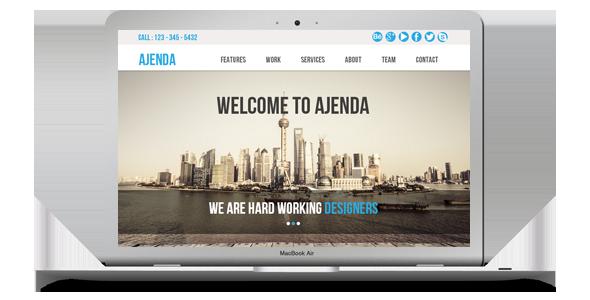 Ajenda - Multi-purpose One Page Muse Template - 2