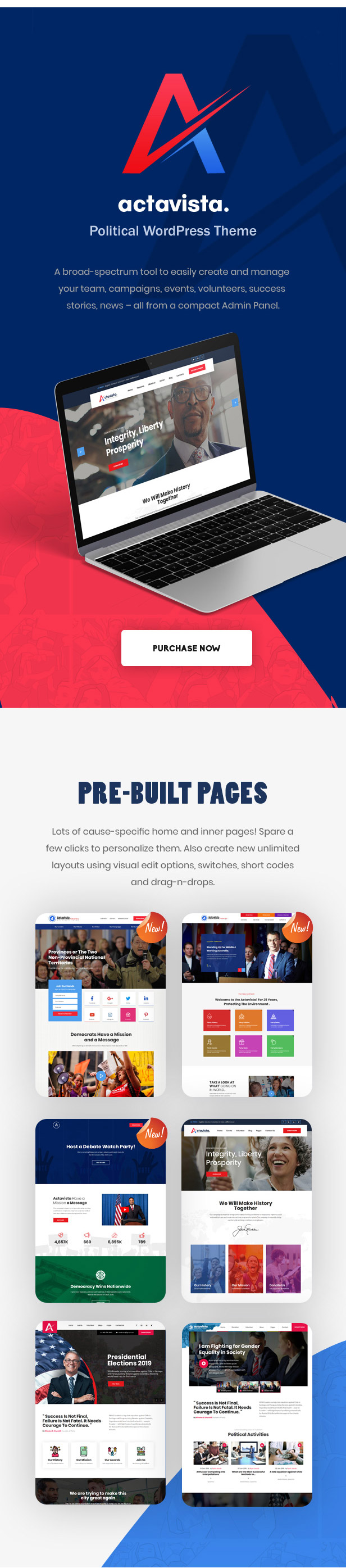 Actavista - A Responsive Political WordPress Theme For Politicians and Organizations - 11
