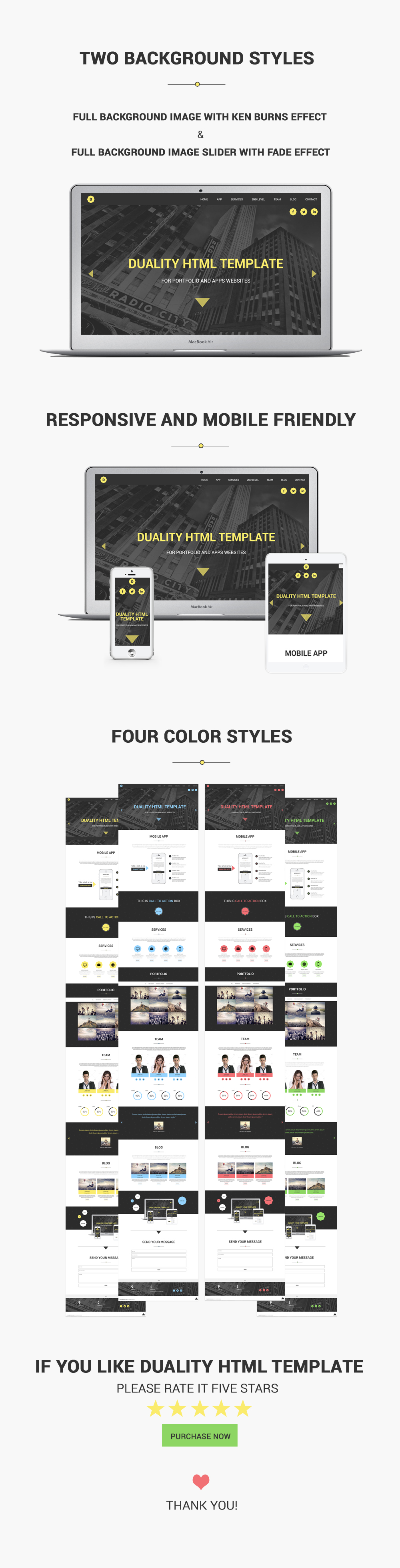 Duality - Portfolio and Apps HTML5 Template by rayoflightt | ThemeForest