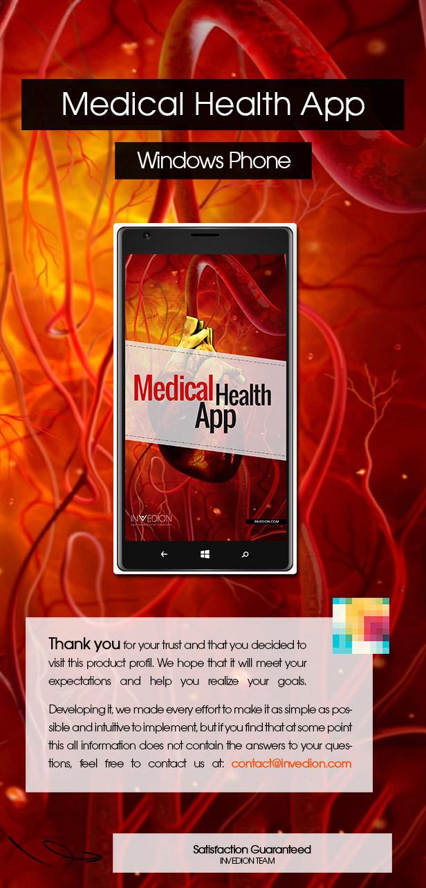 Medical Health App With CMS - Windows Phone